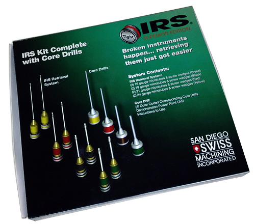 IRS система за отстраняване на счупен инструмент в кореновия канал